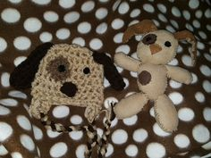 Baby boy hat puppy toy soft lovey snuggle by BellaMariesboutique