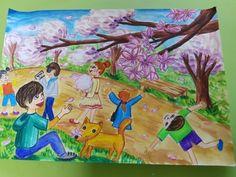 초등부 그림 : 네이버 블로그 Kids Class, Spring Art, Art For Kids, Projects To Try, Cool Stuff, Drawings, Creative, Artwork, Painting