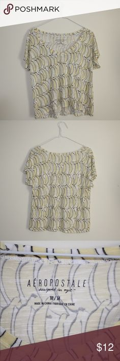 Aeropostale Flowy Top A great top for the summer this top is flowy and lightweight! This will be great for quick and easy outfits and is in great condition! Aeropostale Tops Tees - Short Sleeve