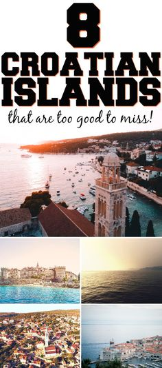 8 Croatian Islands that are too good to miss! Traveling to Croatia and looking for Croatian islands destinations? Check out these 8 islands such as Hvar, Vis, Korcula, and Brač that you really ought to see! I'm so glad I found these Croatian travel tips. Europe Destinations, Europe Travel Tips, European Travel, Travel Guides, Places To Travel, Travel Goals, Travel Hacks, Holiday Destinations, Travel Style