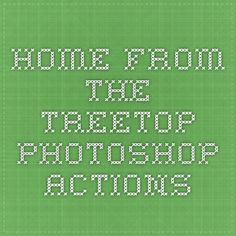 HOME - From The Treetop Photoshop Actions