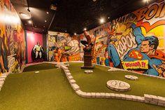 Crazy Golf - Minigolfia ja curlingia Tampereen keskustassa
