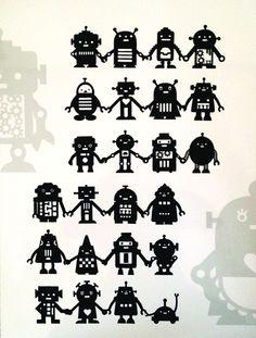 Garçons, Recherche and Robots on Pinterest