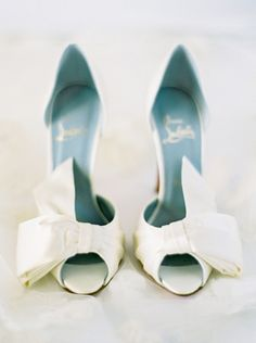 100 layer cake - real wedding - christy & christian - bride - getting ready - wedding shoes - christian louboutin