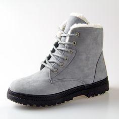 Phụ nữ khởi động 2016 khởi động tuyết mới mùa đông phụ nữ thời trang mắt cá chân giày cho phụ nữ giày winter heels khởi động