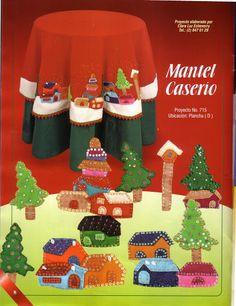 CREANDO IDEAS - PANO LENCY - REVISTAS DIVERSAS - Picasa Web Albümleri Christmas Holidays, Christmas Tree, Christmas Ideas, Holiday Crafts, Holiday Decor, Table Covers, Drink Sleeves, Embroidery Stitches, Ideas Para