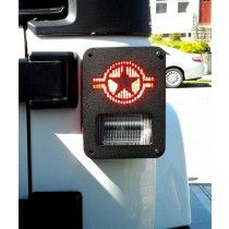 """STARS AND STRIPES"" JEEP WRANGLER JK (2007-current) TAIL LIGHT GUARDS"