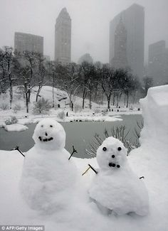 Pictures from the worst winter blizzards in New York City history | Daily Mail Online