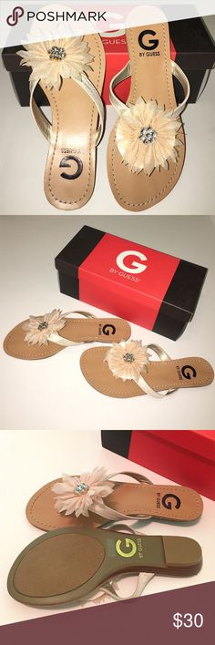 1 Hour Sale🌻Adorable 💜GUESS Sandals🌻 🔆New In Box💜ADORABLE💜Creamy Peachy Color🔆 GUESS Shoes Sandals