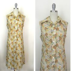NEW IN THE SHOP 1960s Floral Sleeveless Cotton Dress (36/37/44) size medium http://ift.tt/1lP6fC1