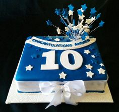 Member of Parliament - 10 years in office - celebration cake