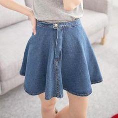 saia jeans abotoada na frente - Pesquisa Google