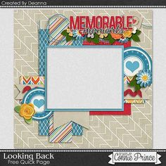FREE Looking Back Quick Page Freebie By Deanna from Connie Prince