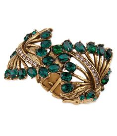 Glamorous Oscar de la Renta  Cutout Jeweled Cuff Bracelet http://rstyle.me/~3edNm