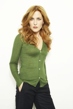 Gillian Anderson.  Like the reddish hair.  Could be nice in foils.