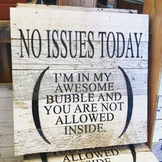 My Awesome Bubble Wooden Sign
