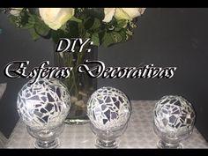 Esferas de espejo tipo mosaico para decoración , Spheres mirror mosaic for decoration - YouTube