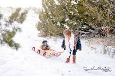 Albuquerque Children Photography, Kids Photoshoot ideas, Winter Sledding Photoshoot, Photoshoot in winter with kids