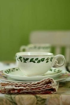 Lovely green teacups!