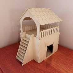 Wooden (plywood) Cat house project DIY. Modern pet furniture. Litter box. Cat shelter. Insulated cat house Pattern Vector for CNC Laser and Router Cutting. Material plywood 4mm/5mm/6mm.    Plywood 4mm (Laser cut)Plywood 5mm (Router cut, Laser cut)Plywood 6mm (Router cut, Laser cut) Minimum required CNC working area - 50cm (19,7in) / 46,5cm (18,3in) Length - 43,5cm / 17,2inWidth - 67cm / 26,4inHeight - 72cm / 28,4in Max element size - 50cm (19,7in) / 46,5c...