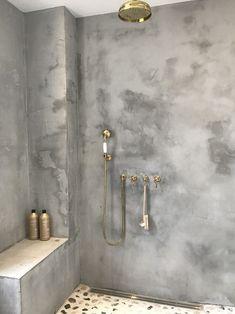 Modern Home Decor Bathroom Bathroom Renos, Small Bathroom, Concrete Bathroom, Tadelakt, Bathroom Goals, Bathroom Ideas, Loft House, Wet Rooms, Bathroom Interior Design