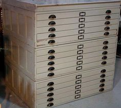 Just bought a small map drawer chest. Next step - paint antique white and change out the pulls!