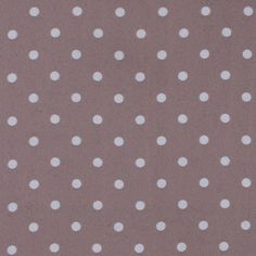 Taupe/White Polka Dotted Polyester Chiffon