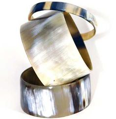 Cow Horn Bangles from Red Earth Trading Co.
