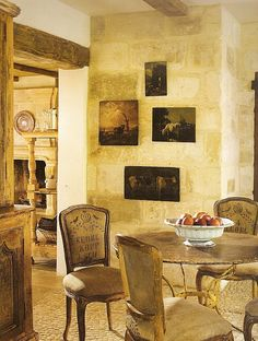 """kitchen dining area -- Provence, France style - pix from """"The French Room"""" by Betty Lou Phillips ~~"""