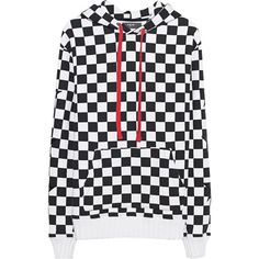 Amiri Check Star Black White // Cotton hoodie with chess pattern ($1,330) ❤ liked on Polyvore featuring men's fashion, men's clothing, men's hoodies, mens cotton hoodies, mens hoodies, g star mens hoodies, mens short sleeve hoodies and mens sweatshirts and hoodies