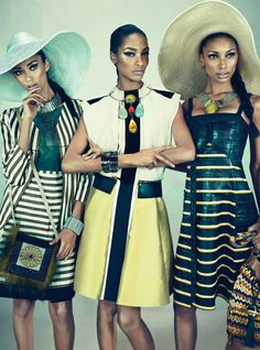 Models Travel Best in Squads - Anais Mali, Jourdan Dunn, and Jasmine Tookes-Wmag