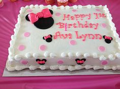 Minnie Mouse inspired Fondant Cake Toppers Complete by 1STOPPARTY