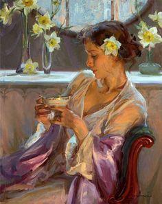 Daniel F. Gerhartz, Woman at Tea Time