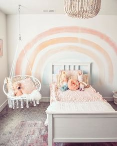 Forget the gold at the end of the rainbow, we'll just take the mural 🤩 Mural: The Elsi Joy Kinna Repost: Demi Bredefeld. Big Girl Bedrooms, Little Girl Rooms, Baby Girl Bedroom Ideas, Girl Toddler Bedroom, Girls Bedroom Decorating, Baby Girl Rooms, Kids Bedroom Ideas For Girls Toddler, Cool Kids Rooms, Girl Bedroom Designs