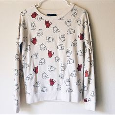 • new • Cat Print Sweater Super comfortable, cute cat sweater. Only worn once! Loose fit. Forever 21 Sweaters Crew & Scoop Necks