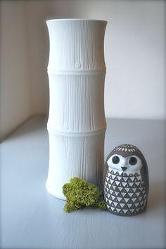 Mid Century Bamboo Vase