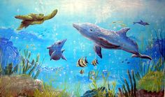 UNDER WATER SEA SCENE | Agape Inn - Gerardo Deleon, a very talented artist painted this mural ...