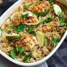 Bagt kylling og ris (NEM) | Mummum