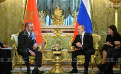 King Mohammed VI of Morocco visit to Moscow, Russia - 15 Mar 2016  Vladimir Putin and King Mohammed