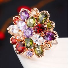 http://rubies.work/1036-ruby-rings/ Explosion Models Multicolor Crystal Rings Fine Ruby Ring Color Zircon Gold Wedding Rings True Mona Lisa