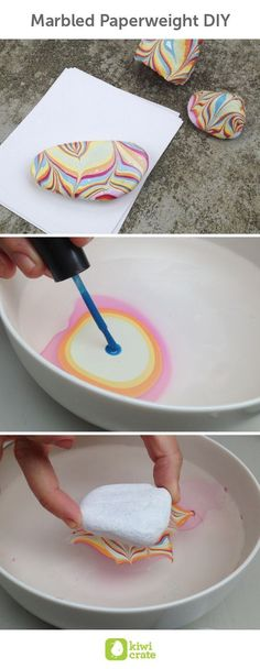 Marbled Paperweight DIY. #diy #crafts
