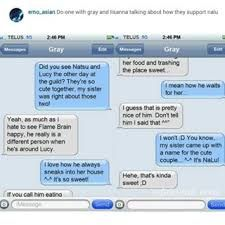 Image result for fairy tail text messages