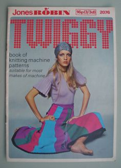Vintage Knitting Patterns 1960s 1970s - Twiggy Book of Knitting Machine Patterns 1970 - Machine Knits - original patterns 60s 70s. $15.00, via Etsy.