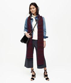 The 2016 way to wear stripes on stripes.