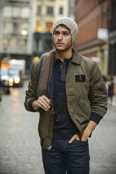 Nautica Jacket & beanie | AG jeans | Perry Ellis shirt | Details at http://iamgalla.com/2014/11/fall-staples-for-men/