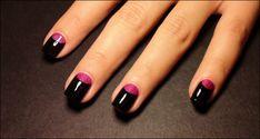 Ivana Thinks Pink: Step by Step: Pink & Black Half Moon Manicure
