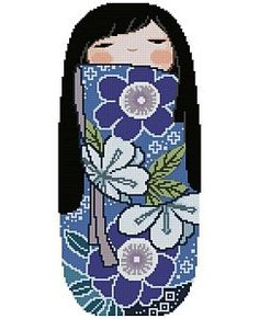 Japanese Kokeshi Doll 3 - AZUMI. $5.00, via Etsy.