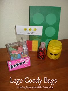 Making Memories ... One Fun Thing After Another: Lego Birthday Party: The Goody Bags