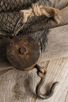 Ships Block & Tackle Pulley Nautical Decor from Save-On Crafts / Shipwrecked Coastal Cottage, Coastal Homes, Coastal Style, Coastal Decor, Rustic Decor, Coastal Curtains, Coastal Entryway, Coastal Farmhouse, Coastal Furniture