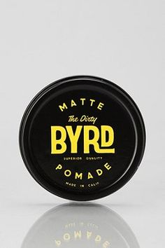 BYRD Matte Dirty Pomade #packaging #font